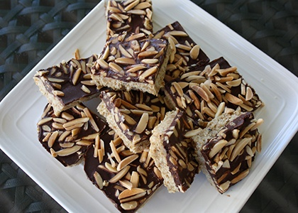 No-Bake Coconut Almond Chocolate Bars