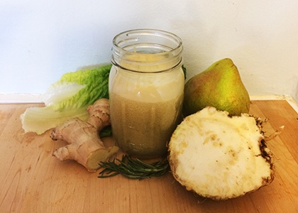 Anti-Inflammatory Ginger Pear Juice